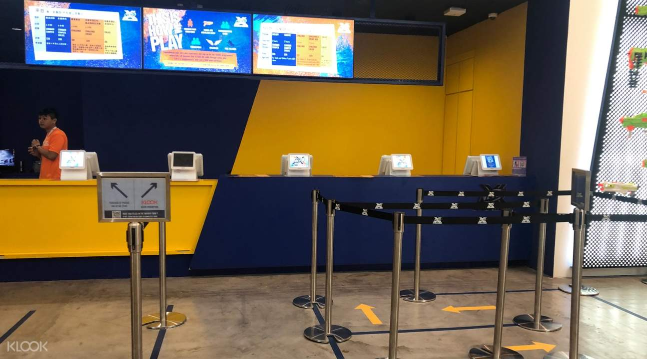 NERF ticket counter klook skip the line access